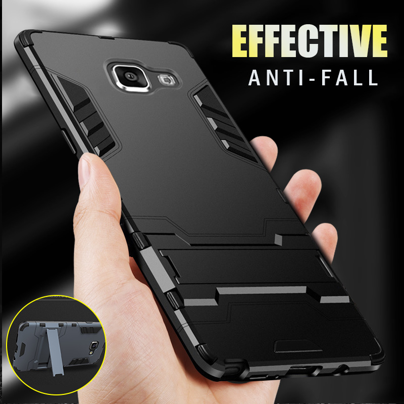H&A Luxury Armor Phone Case For Samsung Galaxy A3 A5 A7 2016 Shockproof Cover For Samsung A8 Plus 2018 J5 J7 2017 Case Cover-in Fitted Cases from Cellphones & Telecommunications