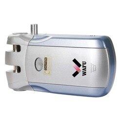 Wafu 019 fechadura da porta sem fio 4 controle remoto eletrônico inteligente bloqueio de toque/bluetooth lock sem usb transferencia espanha 433 mhz