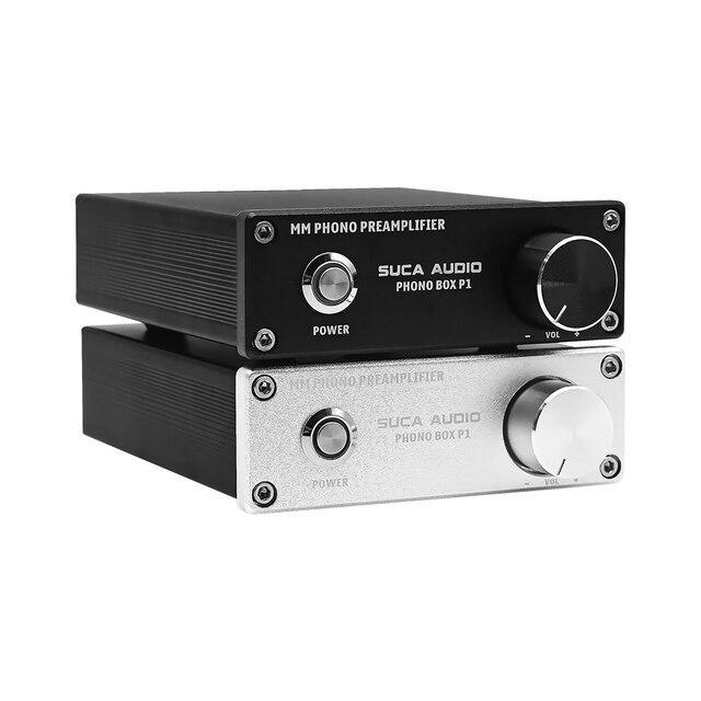 SUCA preamplificador de fonógrafo LP, reproductor de discos de vinilo para Audio en casa, amplificador de preamplificador de Phono de sonido