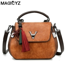 MAIGCYZ With Tassel Famous V Designers Leather Women Handbags Luxury Crossbody Bags New Women's Shoulder Bag Bolsa Feminina