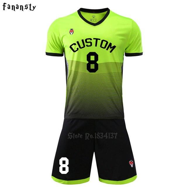 Alta calidad uniforme del fútbol de los hombres traje de entrenamiento  fútbol encargo adulto Fútbol 2017 1f0fc6151f816