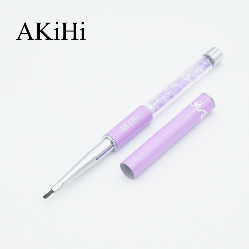 AKiHi Nail Arts Petal Brush UV Gel Painting Drawing Polish Pen Acrylic Round