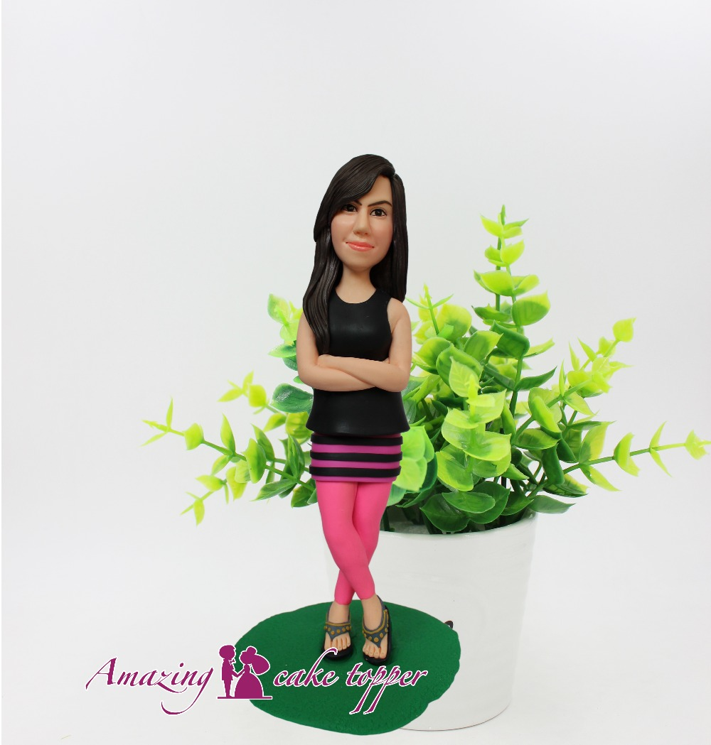 2019 AMAZING CAKE TOPPER Toys Confident girl birthday present And Groom Gifts Ideas Customized Figurine Valentine's Day