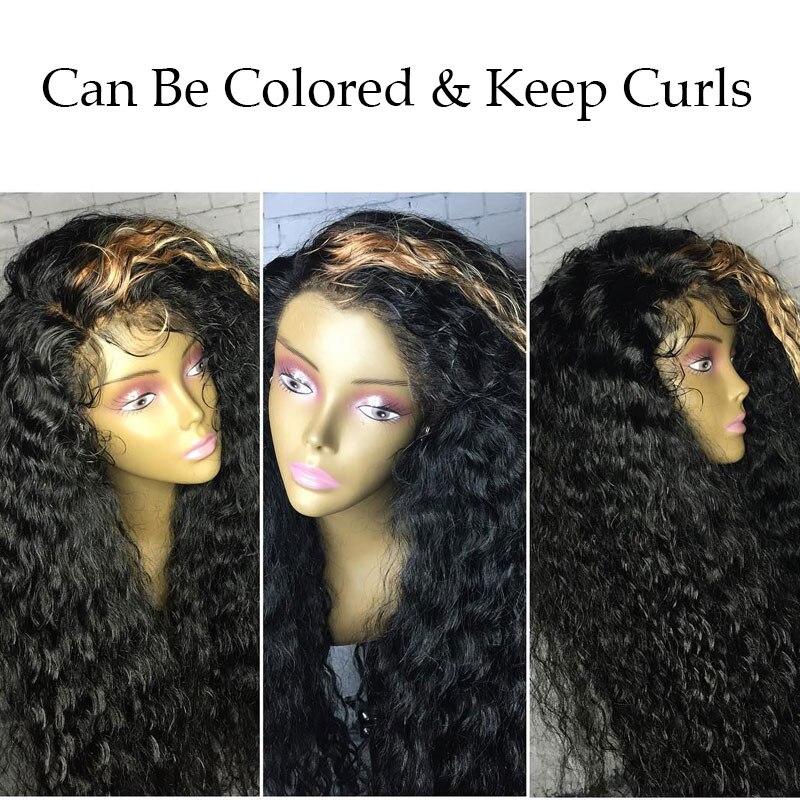 250 blīvuma mežģīņu priekšējie cilvēka matu parūkas - Cilvēka mati (melnā krāsā) - Foto 3