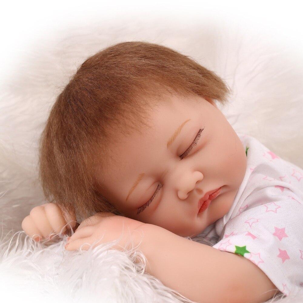 55cm silicone reborn babies dolls closed eyes sleeping newborn baby