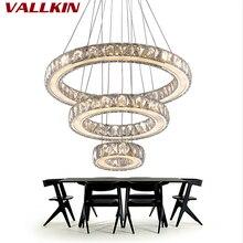 Зеркальные светильники из нержавеющей стали с кристаллами и бриллиантами, 3 кольца, светодиодные подвесные светильники, кристальная декоративная Подвесная лампа для столовой