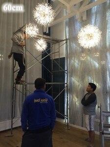 Image 4 - Lukloy ロフト led ペンダントランプハングライトポストモダンシャンデリアタンポポクリスタルリビングルーム寝室ショップ led 照明器具