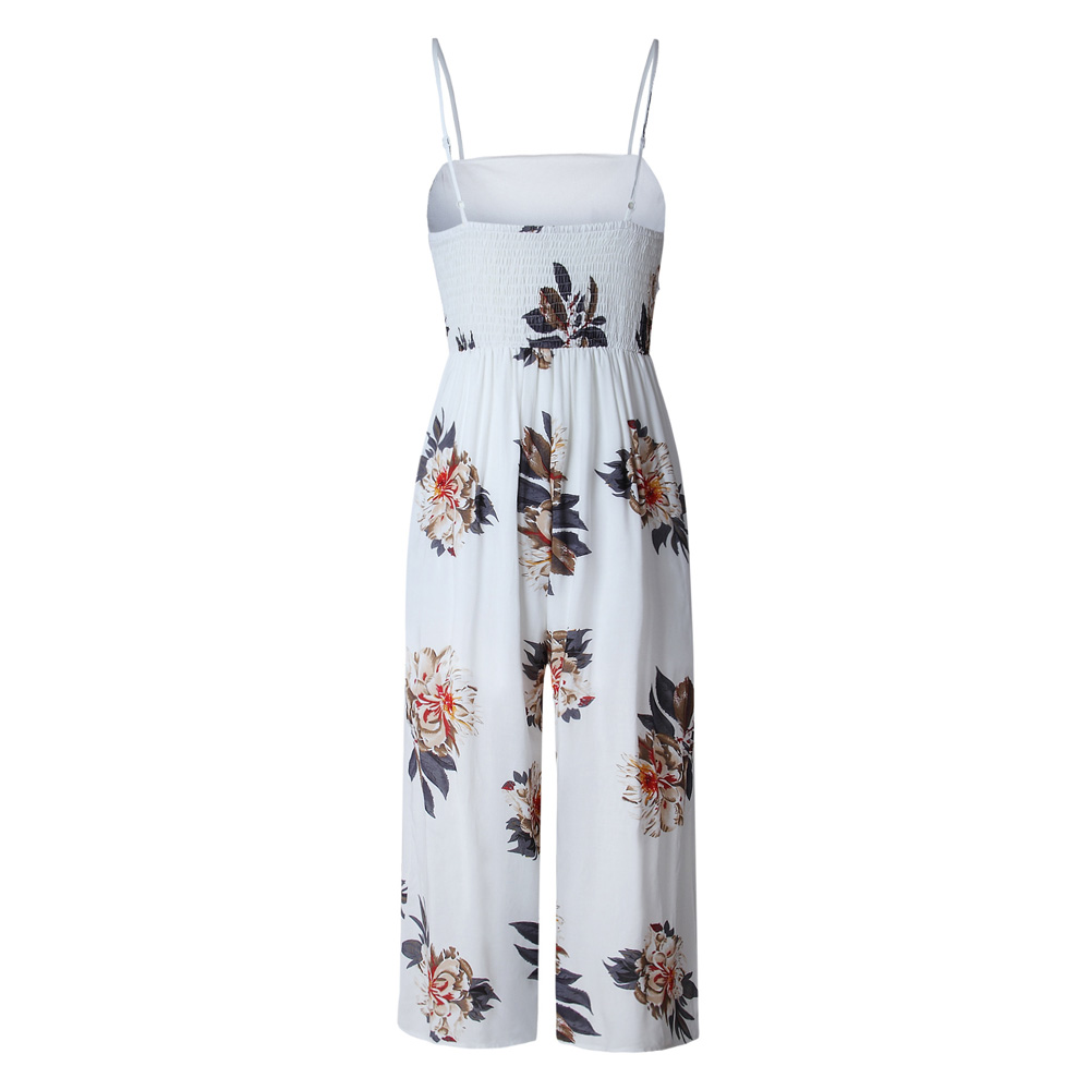 Women sexy clothes New Casual Fashion Sexy Summer Sleeveless Floral Pattern Romper