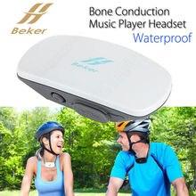 El envío gratuito! Beker Auriculares de Conducción Ósea Natación 4 GB Reproductor de Música Portátil A Prueba de agua