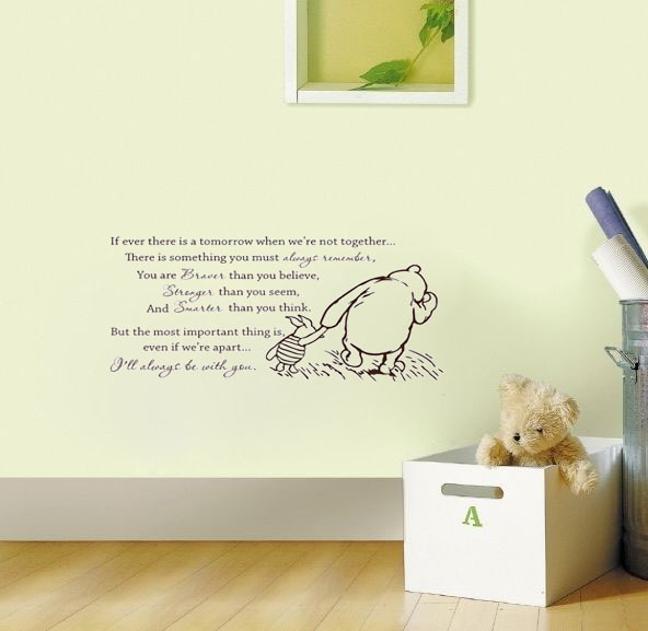 22b6ff5af724 Classic Winnie the Pooh If ever there is a tomorrow baby wall decals vinyl  stickers home decor living room wall pictures