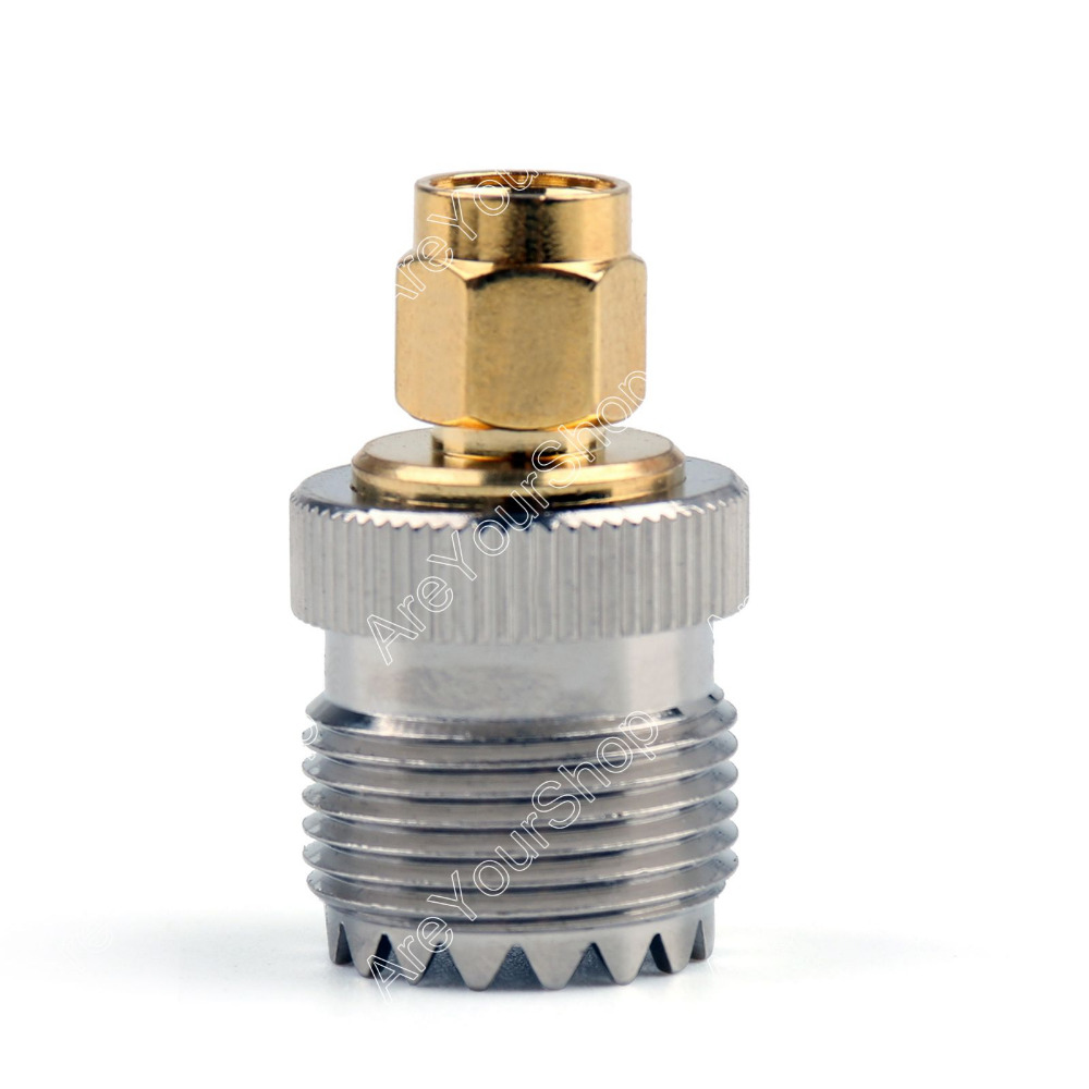 Areyourshop Adapter SO239 UHF Female Jack To SMA Plug Male RF Connector Straight 10Pcs High Quality Jack Plug Wire Connector areyourshop female to female connector stereo adapter 1 8 inches 3 5mm jack plug audio connector 50 pcs high quality adapter