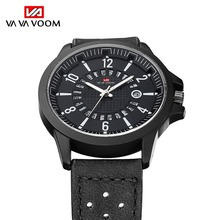 цена Top Brand Luxury Quartz Watch Men Sports Watches Military Army Male Wrist Watch Creative Leather Date Clock relogio masculino онлайн в 2017 году
