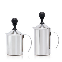 400/600ml Stainless Steel Double Mesh Milk Jugs Latte Milk Foam Maker Frother Milk Creamer Coffee Cappuccino Barista