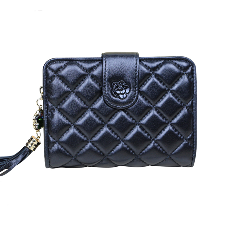 Women Purse Genuine Leather Wallet Female Tassel Diamond Coin Purses Holder Fashion High Quality Clutch Small Handy Women's Bag боди katrus боди