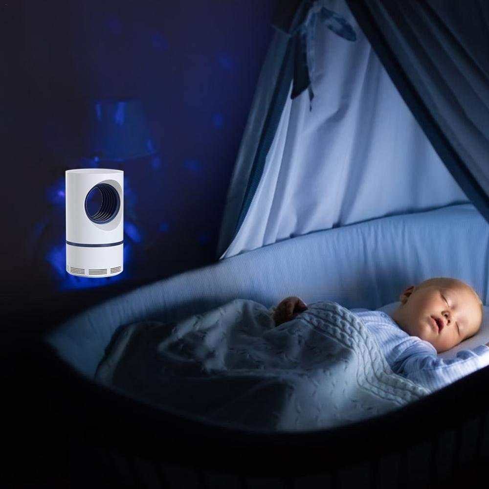 Lámpara Ultravioleta antimosquitos luz de noche USB LED insecto trampa Radiationless repelente de mosquitos habitación dormitorio, estudio, 3
