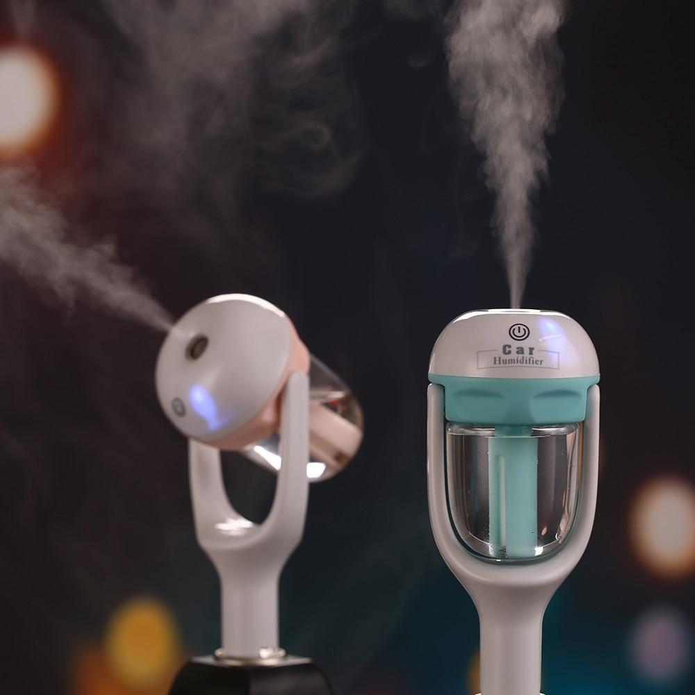 50ML Car Air Humidifier Car Air Purifier Aroma  Essential oil Diffuser Aromatherapy Mist Maker Fogger  12V new 300ml woodgrain essential oil aroma diffuser aromatherapy humidifier mist maker purifier 3 models