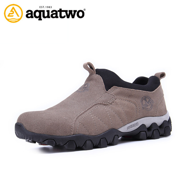AQUATWO Hot Sale High Quality Men's Suede Leather Shoes Outdoor Trekking Breathable Shoes Men Walking US5.5-10.5# Man Shoes