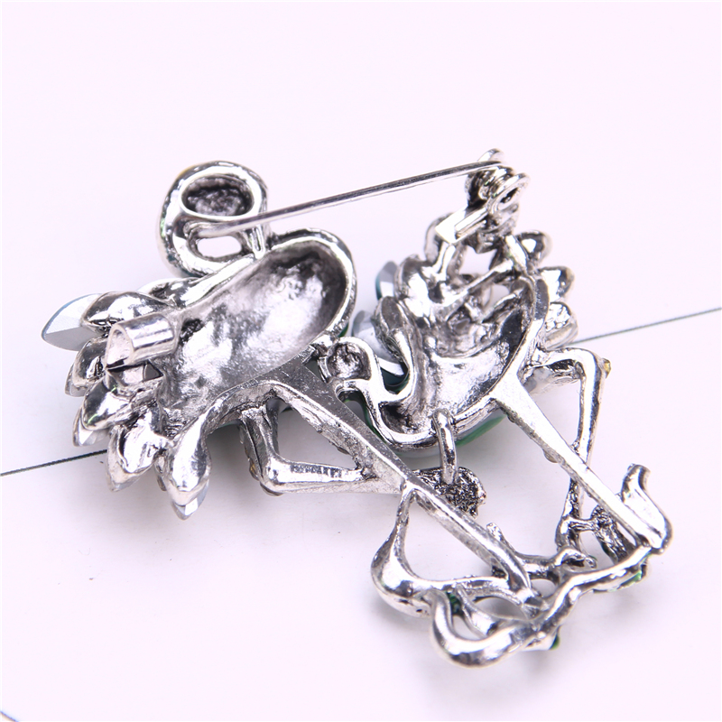 bird brooch enamel pin metal brooch lapel pin men suit gifts brooches for women rhinestone brosche in Brooches from Jewelry Accessories
