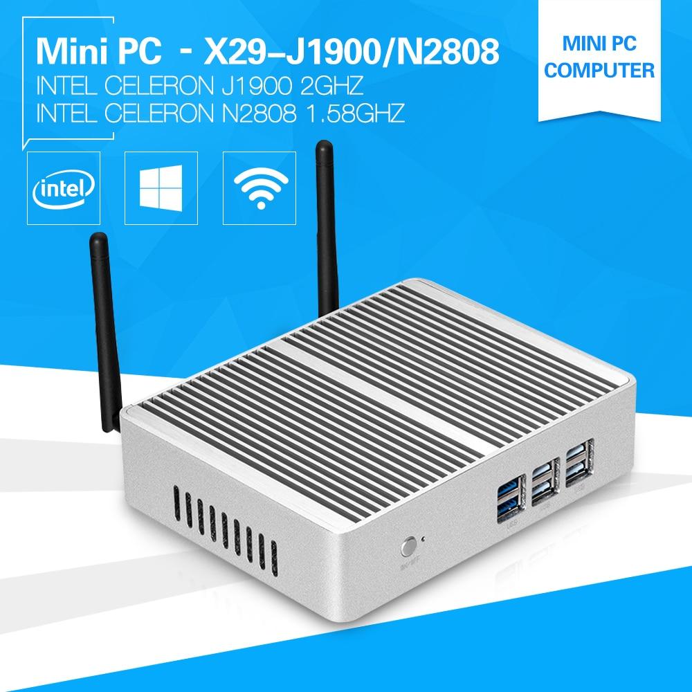 Mini computer windows 10 Pentium N3510 J1900 Quad core 2.0Ghz N2808 two HDMI display port desktop pc 4G Ram USB3.0 HTPC newest 7th gen core i7 7500u mini pc windows 10 htpc 8gb ram ddr4 320gb ssd fanless system 4k hdmi vga wifi nettop gaming pc
