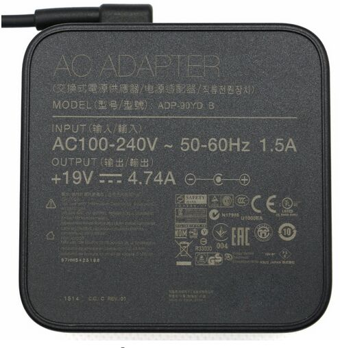 19V 4.74A 90W ADP-90YD B ADP-90CD DB EXA1202YH PA-1900-34 AC Adapter Power Supply for Asus K53 K53B K53BY K53E Notebook
