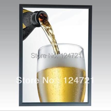 A1 Poster Moldura de Alumínio Frame Instantâneo LEVOU Caixa de Luz de Publicidade Indoor