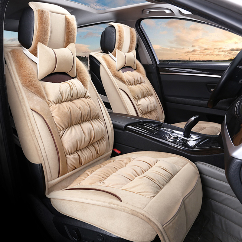 Car Seat Cover Plush Cushion Winter Mats For Land Rover Discovery 3 4 Freelander 2 Sport Range Evoque Styling