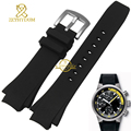Rubber watch strap silicone bracelet wristband men watchband Convex interface Wide 25mm wristwatches band for iw354807 371918