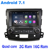 Android 7 1 Quad Core Car Dvd Gps For Mitsubishi Outlander 2006 2012 With Wifi 4G