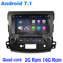Android 7.1 Quad core Car dvd gps for mitsubishi outlander 2006-2012 with wifi 4G usb bluetooth mirror link auto Stereo