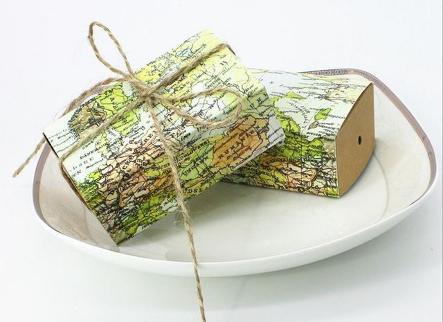 100 pcs creative world map style wedding favors kraft paper candy 100 pcs creative world map style wedding favors kraft paper candy boxes party gifts box chocolate gumiabroncs Image collections