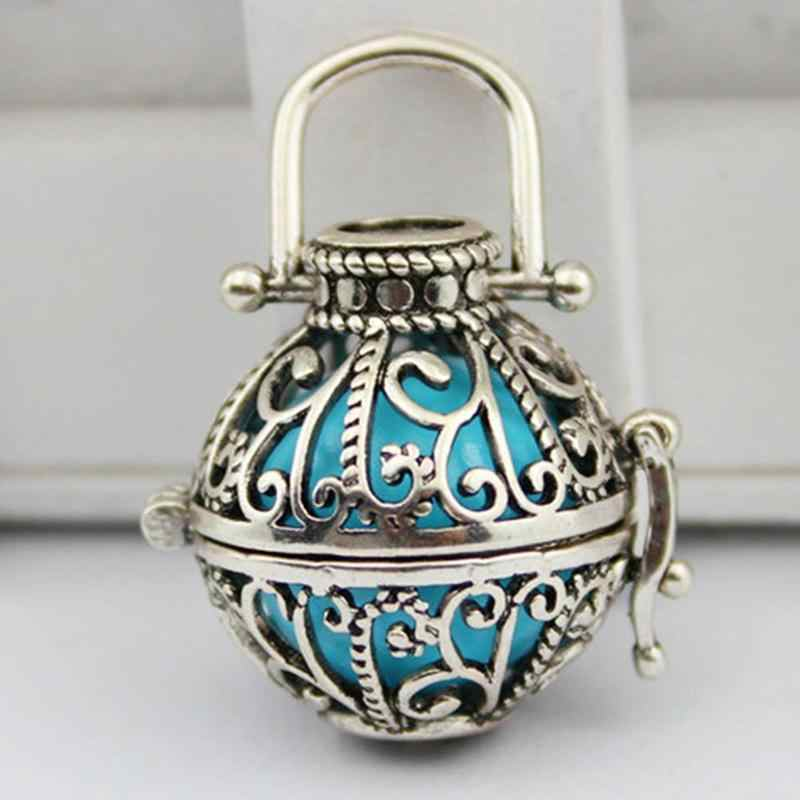 NO Bead Hollow Cage Vintage Lockets Pendants Aroma Diffuser Necklace Open Antique Perfume Essential Oil Aromatherapy DIY Jewelry