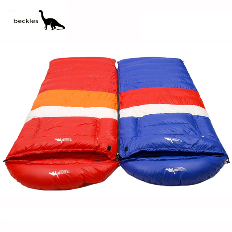 Beckles sleeping bag adult winter ultralight 1000g outdoor duck down sleeping bag camping envelope type bags