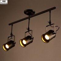 Retro Industrial Loft LED Track Light Led Rail Lamp Leds Spotlights Iluminacao Lighting Fixture For Shop