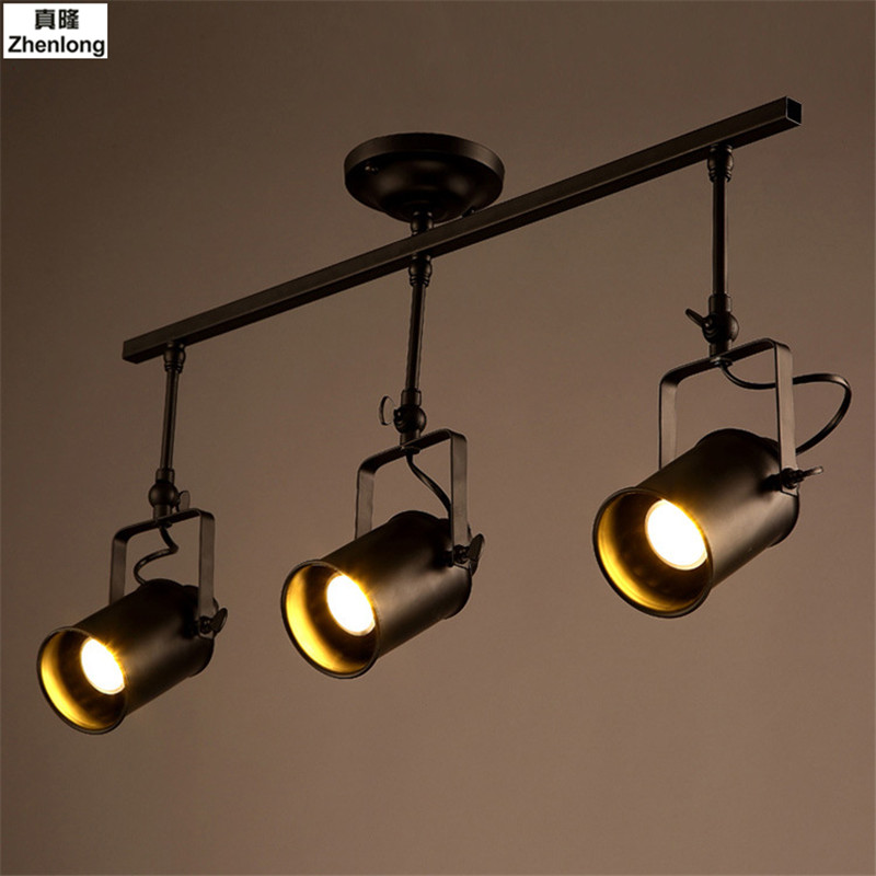 Retro Industrial Loft LED Track Light Led Rail Lamp Leds Spotlights Iluminacao Lighting Fixture for Shop Store Spot Lighting