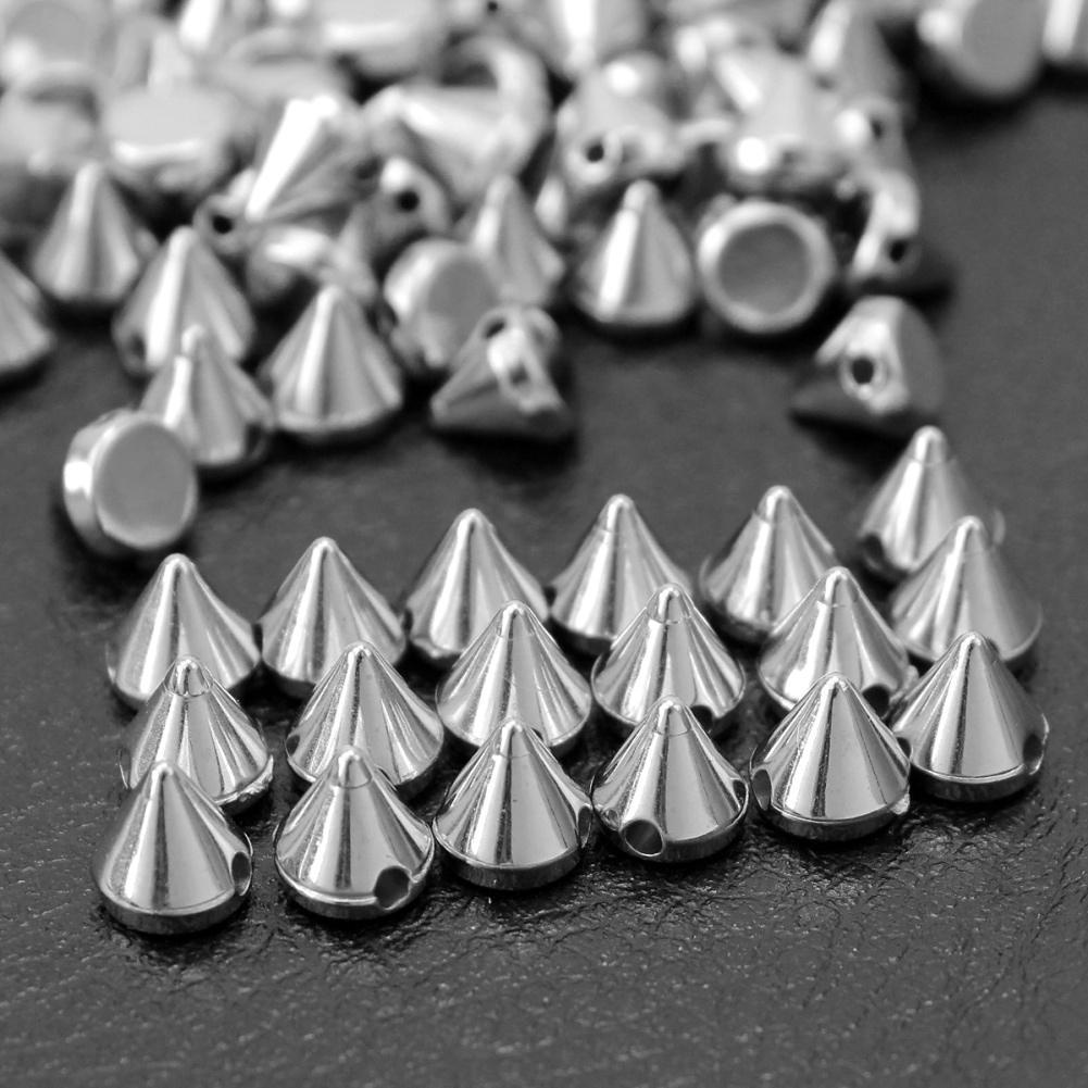 DIY 100 PCS 10 mm color acrylic drill rivet leather process punk DIY hot sales
