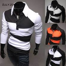 ZOGAA Brand New Mens Polo Shirt Long Sleeve Korean Style Color Matching Slim Fit Men Tops Tees 2018 Casual Polos