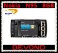 Nokia n95 8 gb abierto original 3g gsm teléfono móvil wifi gps 5mp 8 gb de almacenamiento interno