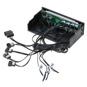Image 4 - Sunshine tipway STW controlador de ventilador de 4 canales para PC, multifunción, controlador de ventilador, ajustador de Control de velocidad, Panel frontal de refrigeración LCD