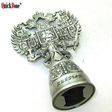 QuickDone Россия стиль двуглавый орел открывалка пива вина оловянные открывалки Винтаж штопор День рождения Юбилей гаджет CKC1215