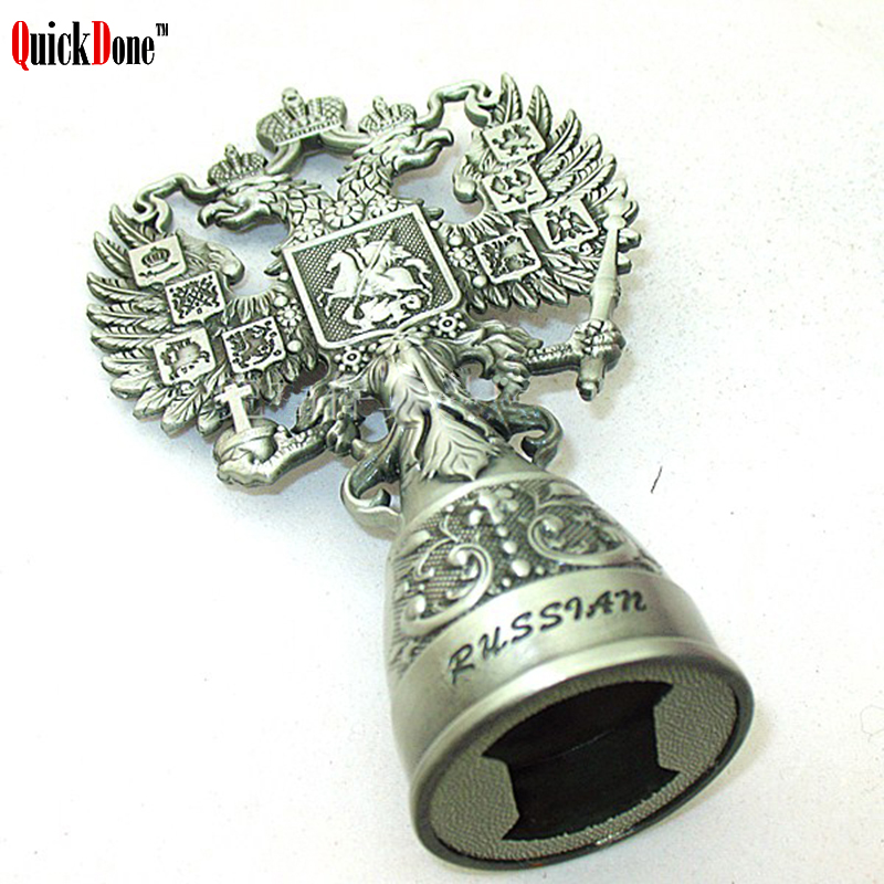 QuickDone Russia Style Double-headed Eagle Opener Beer Wine Tin Openers Vintage Corkscrew Birthday Anniversary Gadget CKC1215