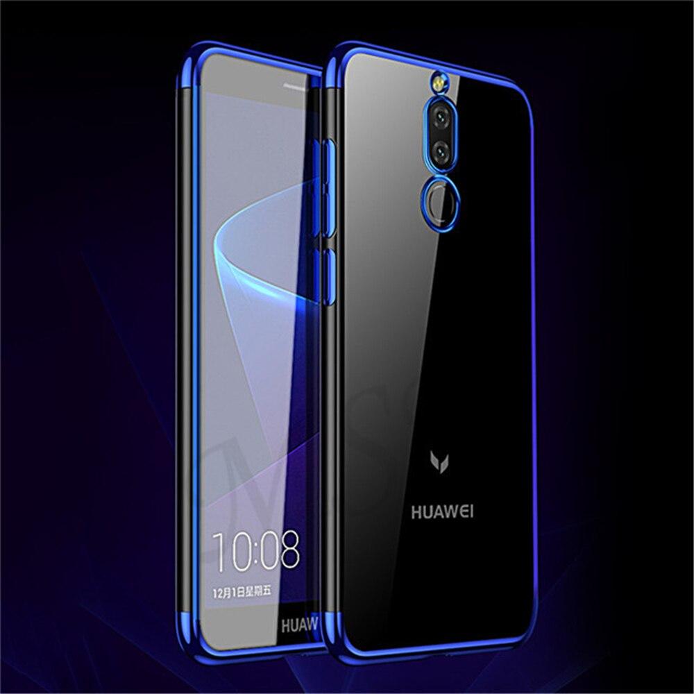 Anti-Knock Soft TPU Case For Huawei Honor 8 Pro 9 V10 V9 Mate 9 10 Pro Lite Nova 2I Case Ultra-Thin Plating Transparent Case