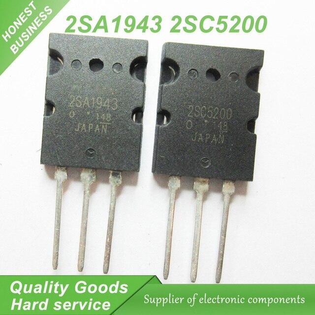 20PCS A1943 C5200 2SA1943 2SC5200 audio pair tube 10PCS* A1943+10PCS* C5200 TO-3PL new original