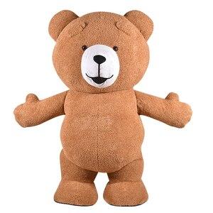 Image 2 - Urso de pelúcia traje inflável adulto gonflável nossos traje cosplay nossos en peluche mascote animal lol