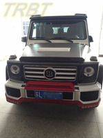 G55 Body Kit PU Front Bumper Front Lip Side Skirts Fender Flare Rear Lip Led Grill