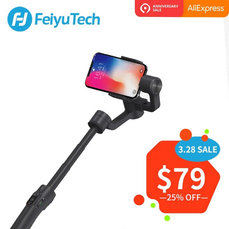 FeiyuTech Vimble 2 смартфон Gimbal 3 оси Ручной Стабилизатор с 183 мм полюса расширение Штатив для iPhone X 8 7 XIAOMI samsung