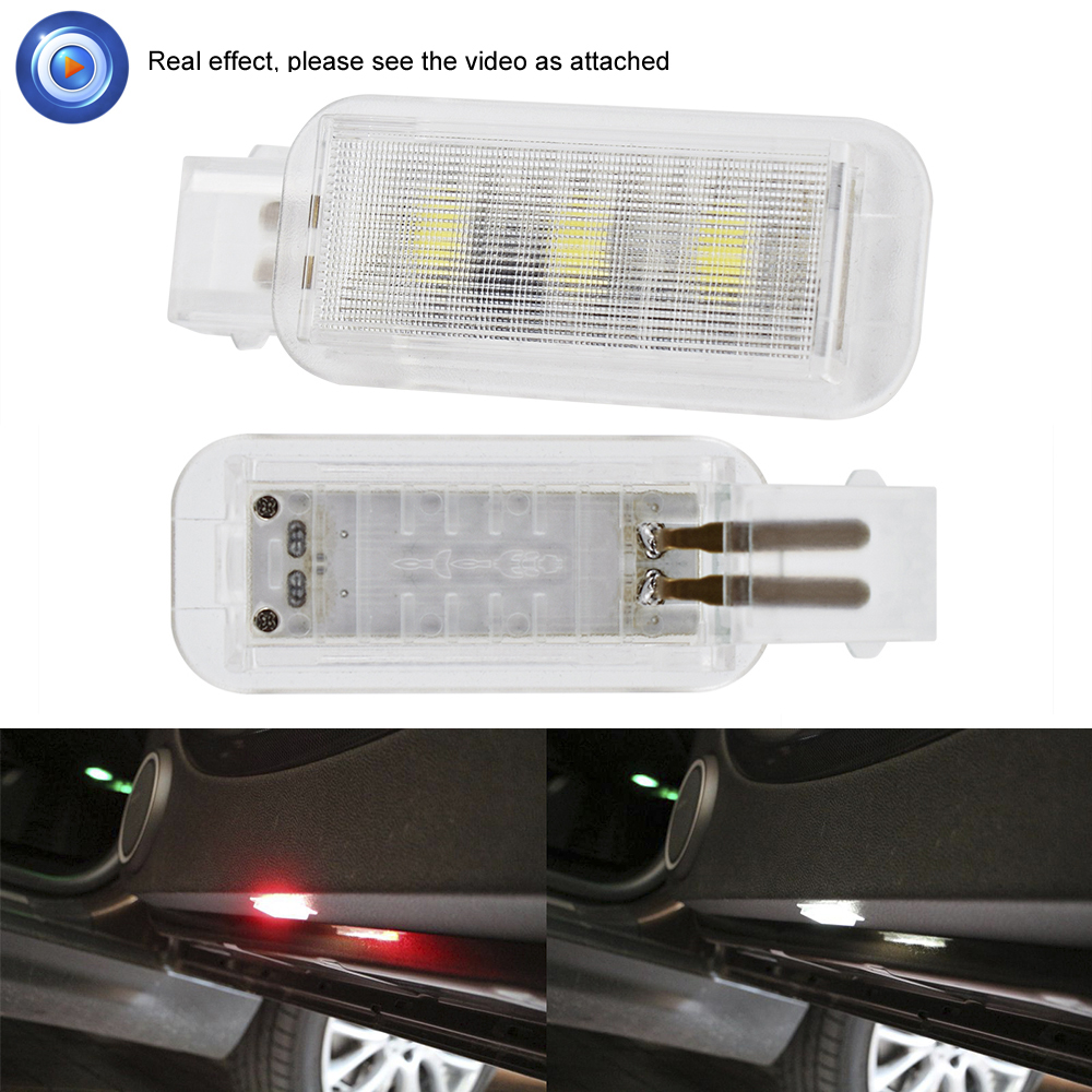 2X For Audi A3 A4 B6 B8 B7 A6 C6 C5 A7 A8 A5 Q3 Q7 Q5 80 TT S line RS S3 Car Door Light Strobe Light Rearing Warning Light