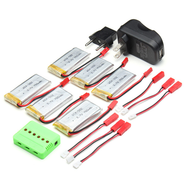 WSX-X6A-H12C 750MAH 25C 3.7V Battery & Charger For JJRC H12C DFD F181 MJX X400 фрезы oem 5 6 wsx 126