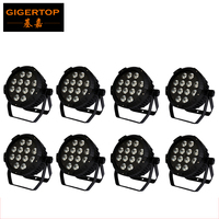Freeshipping 8 Unit 12*18W 6in1 6 Color LEDs (RGBAW UV) NEW Mega China Profile , DMX Par can,American stage light 6/10CH