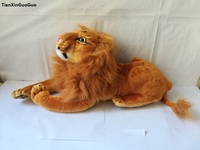 large 55cm simulation lion plush toy prone lion doll pillow toy birthday gift w1580