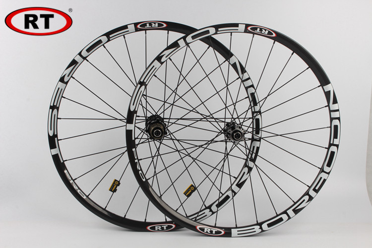 RT  MTB Mountain Bike Full Carbon Fiber 24MM Race DH/AM Thru-axis Wheel Five sealed Bearings CNC Hub Wheelset Rims lauxjack mountain bike steel itself 24